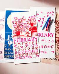 organizing calendars and checklists martha stewart