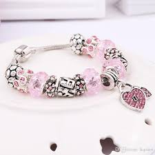 pandora bracelet with beads images 2018 silver plated sweet heart bead pandora bracelet ocean charm jpg