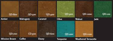 Stain Color Chart Concrete Coating Color Chart Expressions Ltd Concrete Stain Dye Quickdye Acetone Based Stain