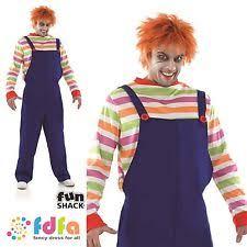 Evil Doll Halloween Costume Mens Halloween Costumes Chucky Ebay