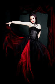 Gothic Wedding Dresses Black And Red Gothic Wedding Dresses Naf Dresses