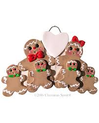personalized family ornament gingerbread family ornament for 6