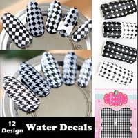 cheap houndstooth nail stickers free shipping houndstooth nail