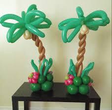 palm tree balloons centerpiece birthday cake ideas