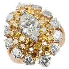 diamond cocktail rings oscar heyman marquise diamond and yellow diamond cocktail ring for
