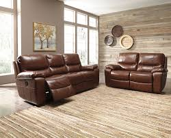 Genuine Leather Reclining Sofa Ashley Penache Reclining Sofa And Love Genuine Leather Dream