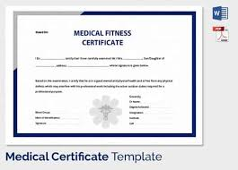 medical certificate template 20 free word pdf documents