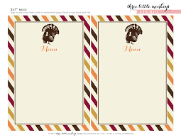 printable blank menu cards for thanksgiving happy thanksgiving