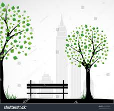 city theme background abstract tree vector stock vector 119207593