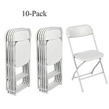 party chairs fch 10 pack folding chairs white stackable wedding