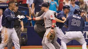 Red Sox Yankees Benches Clear Benches Clear Three Ejected In Rays Red Sox Series Finale At