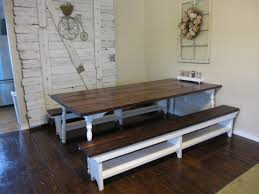 small farmhouse table with bench bench decoration