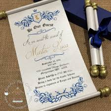 cinderella wedding invitations cinderella royal princess scroll invitation birthday wedding