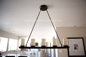 decorating elegant project with stylish linear chandelier