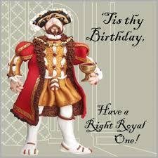 henry viii birthday card