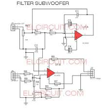 filter subwoofer circuit diagram audio schematic pinterest