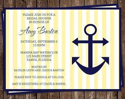 Nautical Bridal Shower Invitations Bridal Shower Invitations Nautical Yellow Navy Wedding Set Of