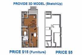 Floor Plan In Sketchup Model Your Floorplan Into 3d By Sketchup Fastest By Tungduongarch