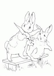 peter rabbit sister snatching carrot coloring peter rabbit