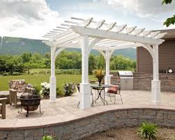 White Vinyl Pergola by Elegant 8x8 White Vinyl Pergola Upgrades Superior Columns And