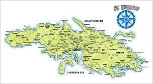 road map of st usvi st island map st us islands mappery
