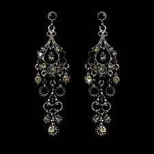 black chandelier earrings a touch of class creations promise antique silver