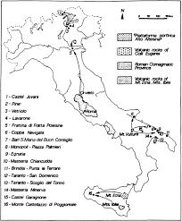 Apulia Italy Map by Fig 1 European Journal Of Mineralogy