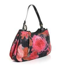 forever roses fendi zucchino forever roses shoulder bag black multicolor 100464
