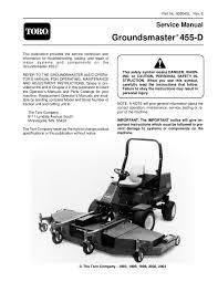 93804sl pdf groundsmaster 455 d rev e 2003 by negimachi