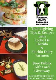 thanksgiving day tips and recipes with leche de florida 100