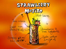 cocktail drawing drawing of strawberry mojito cocktail drink with recipe free image