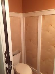 Powder Room Makeover Powder Room Makeover Adding Wainscoting One Room Challenge