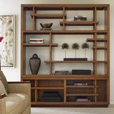 Bookcase In Wall Seldens Home Furnishings Tommy Bahama Island Fusion Taipei Wood