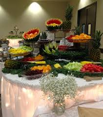 fruit table display ideas hi lo offers a number of rentals to make your event special