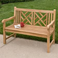Wooden Patio Bench by Jakie 4 Ft Teak Outdoor Basket Weave Bench Outdoor