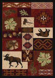 Red Area Rug by Southwestern Area Rugs Western Area Rugs Cabin Area Rugs
