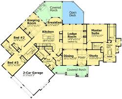 walkout ranch floor plans plan w15793ge stunning mountain ranch home plan e architectural