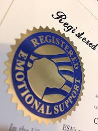 Comfort Pet Certification Amazon Com Emotional Support Animal Esa Certificate Customized