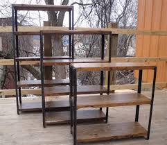 best reclaimed wood bookcase doherty house wrought iron shelf