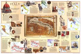 Itsly Map National Geographic Historical Italy Map 1995 Maps Com
