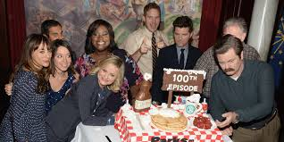 the parks and recreation cast celebrate their 100th