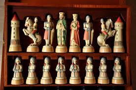 ancient chess set anri charlemagne chess set chessantiques com