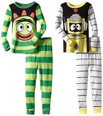 amazon com yo gabba gabba brobee u0026 plex long sleeve pajama set