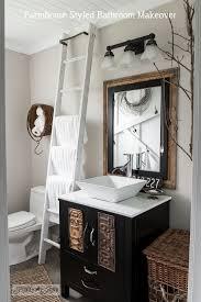 farmhouse bathroom ideas salvaged farmhouse bathroom makeover with vintage trimfunky junk