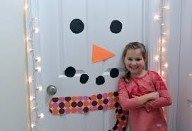 how to make a snowman door decoration youtube