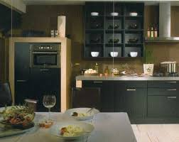 divine modern black kitchen style features black wooden kitchen