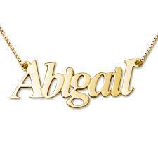 white gold name necklace abigail style 14ct gold name necklace