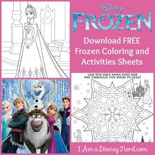 free disney frozen coloring sheets activities mommy nerd