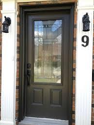 Plain Exterior Doors Ideas Outstanding Plain Glass Wood With Sidelites Black Single