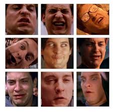 Tobey Maguire Face Meme - tobey maguire has the best facial expressions funny